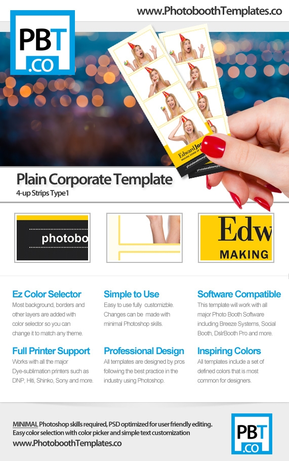 Clean Corporate Photo Booth Template