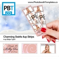 Charming Swirls 4up Strips