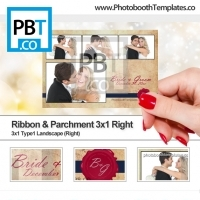 Ribbon and Parchment 3x1 Right
