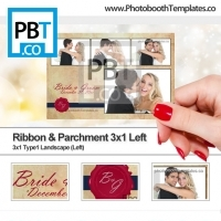 Ribbon and Parchment 3x1 Left