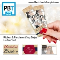 Ribbon and Parchment 3up Strips