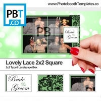 Lovely Lace 2x2 Square