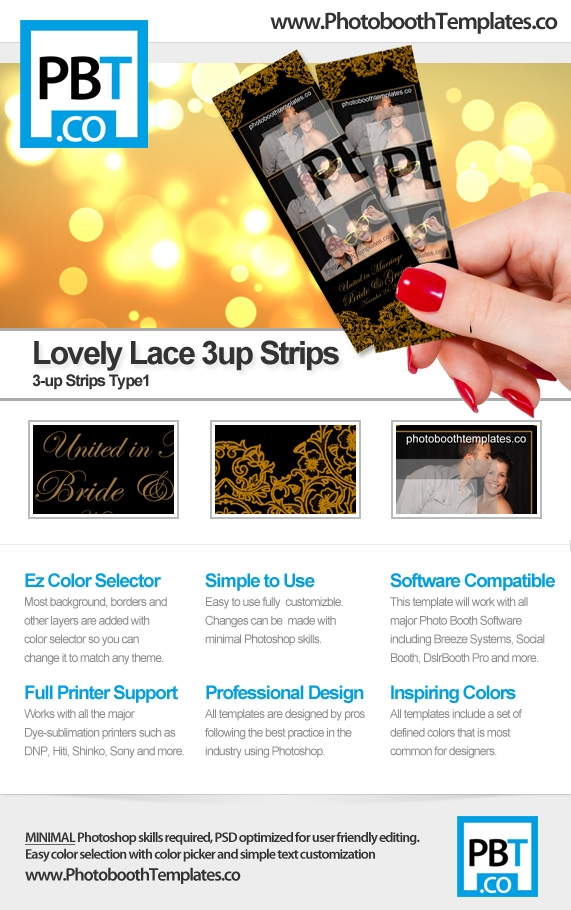 Lovely Lace 3up Strips