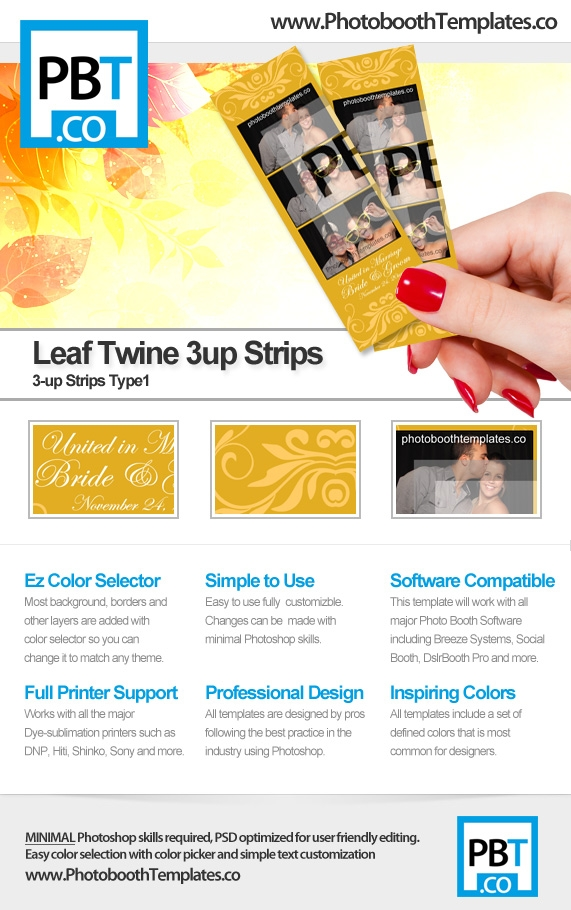 Leaf Twine 3up Strips