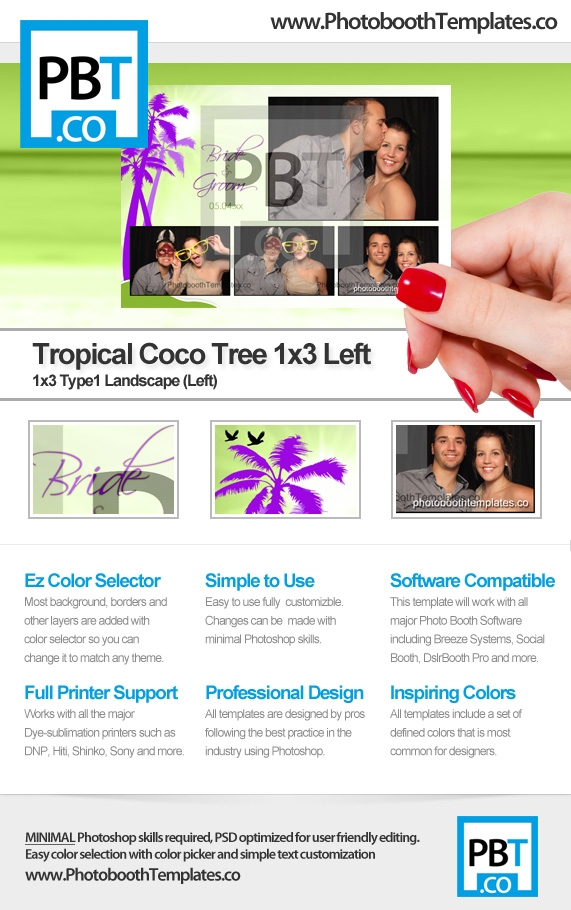 Tropical Coco Tree 1x3 Left