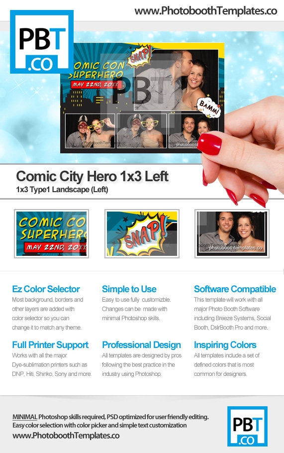 Comic City Hero 1x3 Left