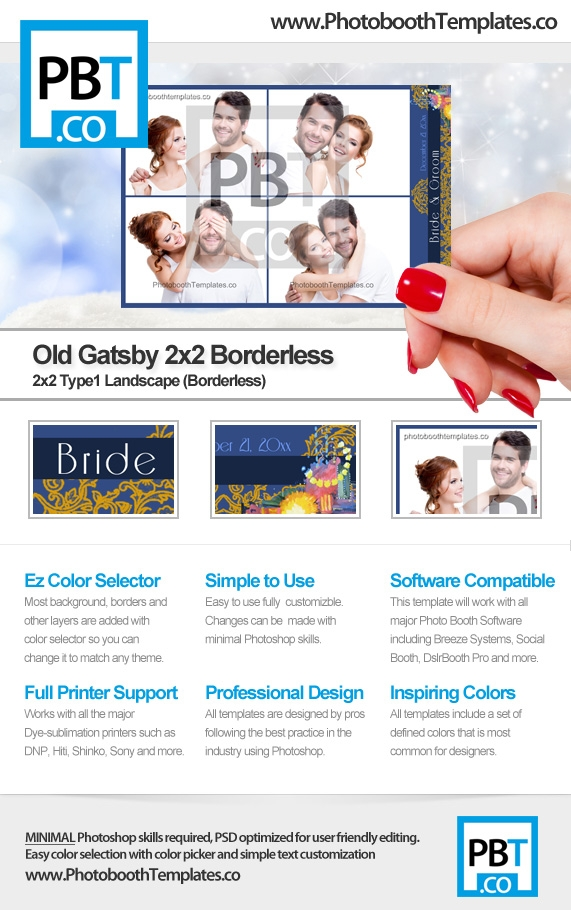 Original Gatsby 2x2 Borderless