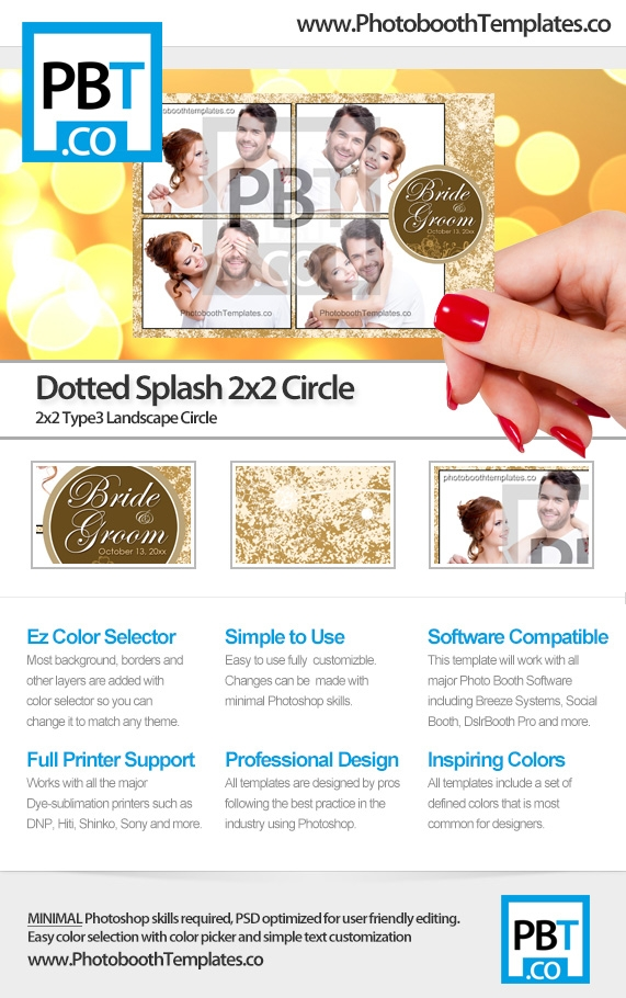 Dotted Splash 2x2 Circle