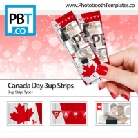 Canada Day 3up Strips