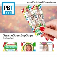 Sesame Street 3up Strips
