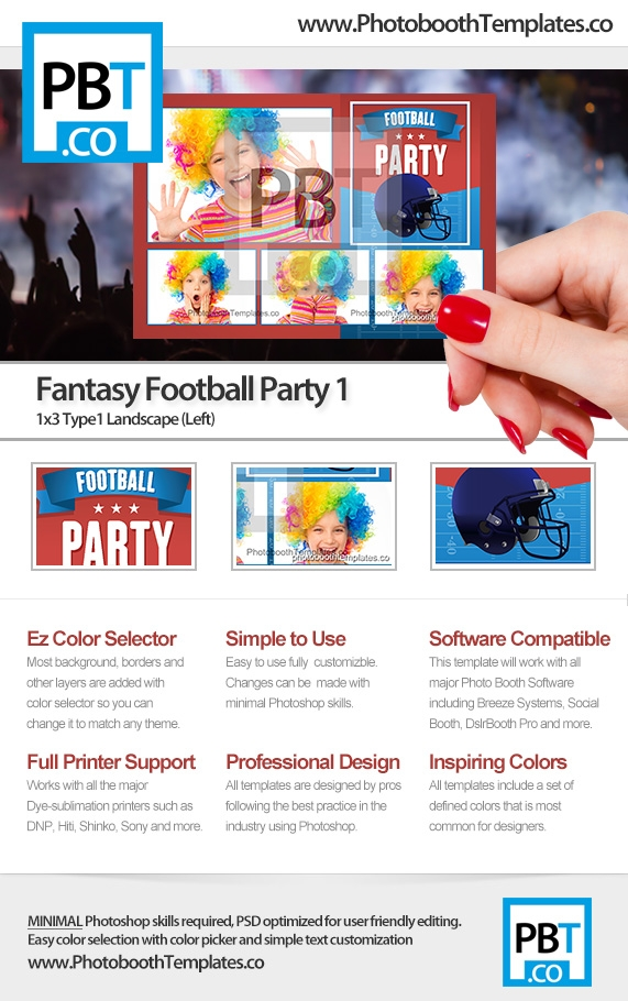 Fantasy Football Party-1 (1x3-Type1 Landscape-Left